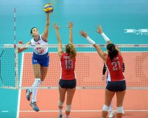 Serbia's Tijana Boskovic spikes